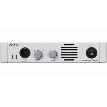 RTS OMNEO PS-20 1.8A Per Channel in 2-Channel Mode Power Supply for 25 Stations
