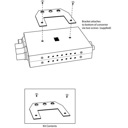 AJA RMB-RO Rack Mount Bracket for D and HD Series Mini Converters