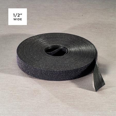 Rip-Tie Q-75-1RL-BK WrapStrap Plus 1/2 Inch x 75 Ft.
