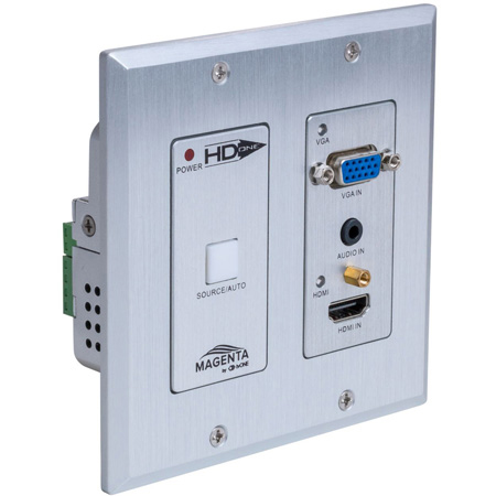 tvONE MG-WP-611-US HD-One HDBT Wall Plate - TX with VGA and HDMI 1.4 Input