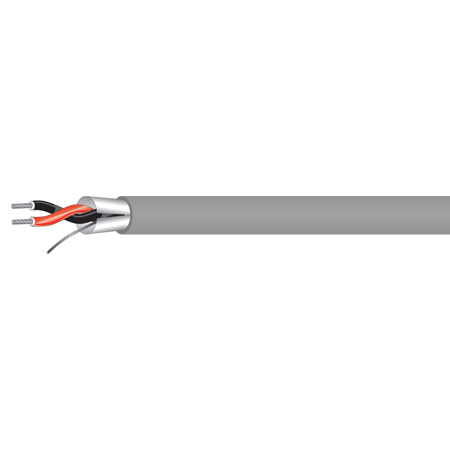 West Penn 454 1P 22G Stranded Shielded Miniature Line Level Audio Cable - Gray - 1000 Foot