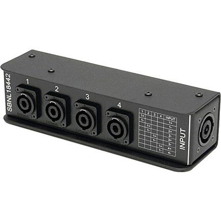 Whirlwind SBNL18442 Splitter - Speakon Stagebox 1 NL8 4 NL4 1(plus/minus)