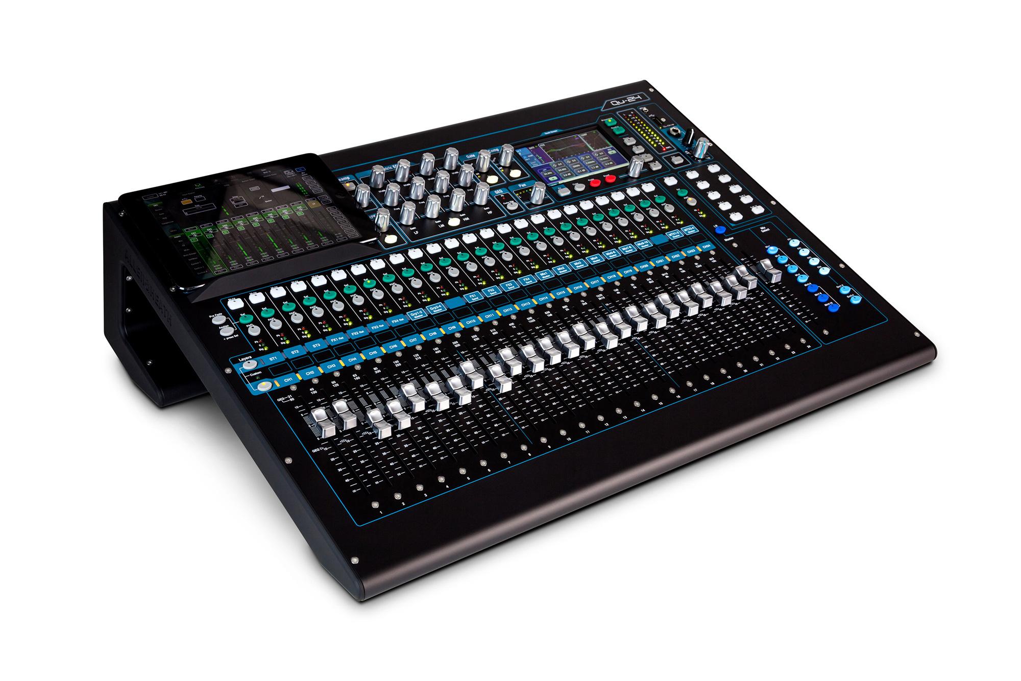 allen heath qu 24c 30 in 24 out digital audio mixer chrome edition. Black Bedroom Furniture Sets. Home Design Ideas