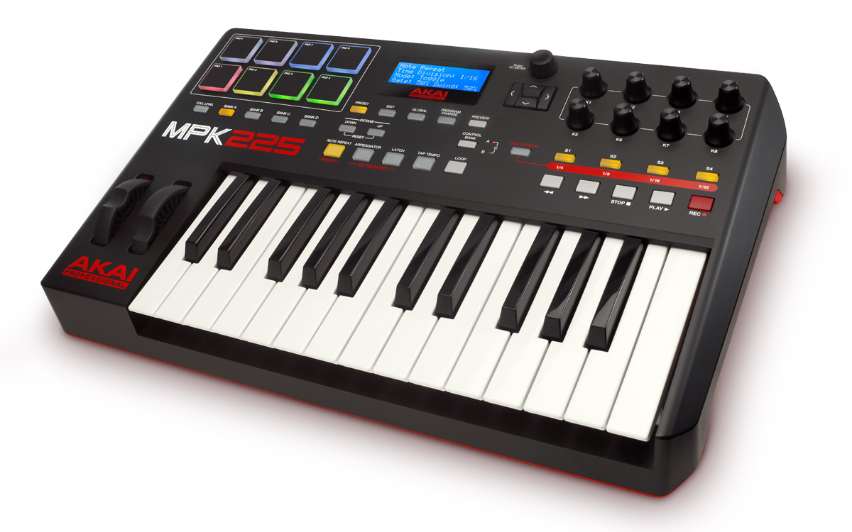 akai professional mpk 225 performance keyboard controller. Black Bedroom Furniture Sets. Home Design Ideas