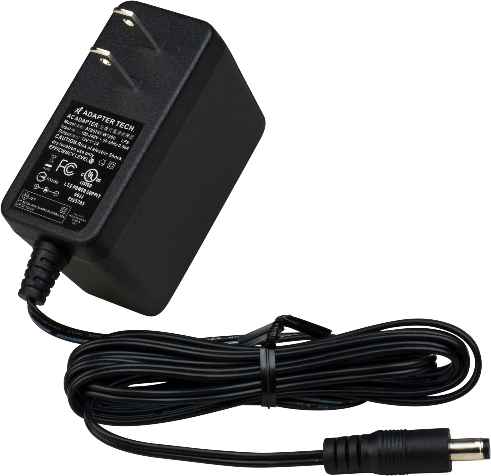 connectronics 12 volt 2 0 amp ac dc power adapter with plug. Black Bedroom Furniture Sets. Home Design Ideas