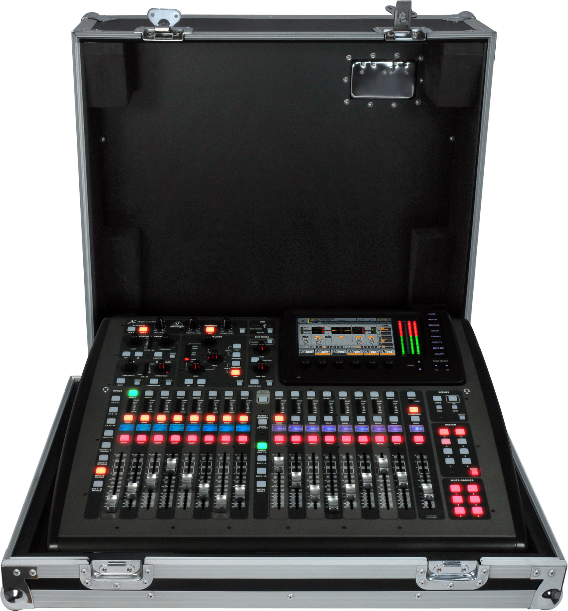 behringer x32 compact tp 40 input digital mixer touring package includes case. Black Bedroom Furniture Sets. Home Design Ideas