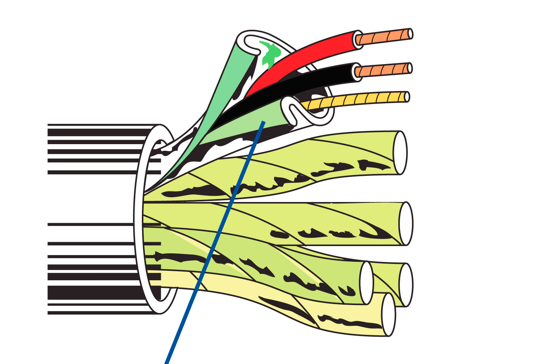 Belden 8778 6 Pair Audio Control Amp Instrument Cable Chrome