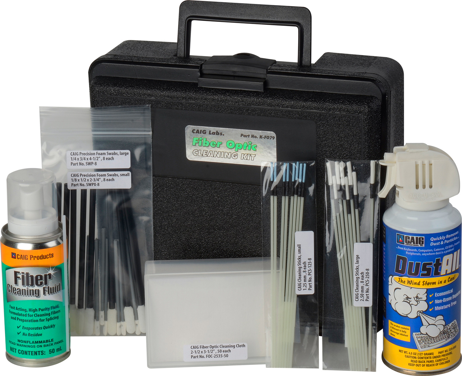Caig Labs K Fo79 Fiber Optic Cleaning Kit