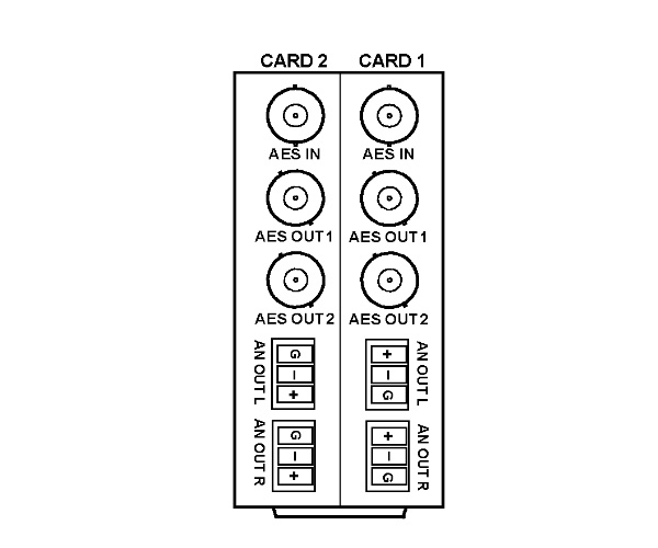 cobalt rm20 s 20 o module  split supports 2 cards  1 aes input