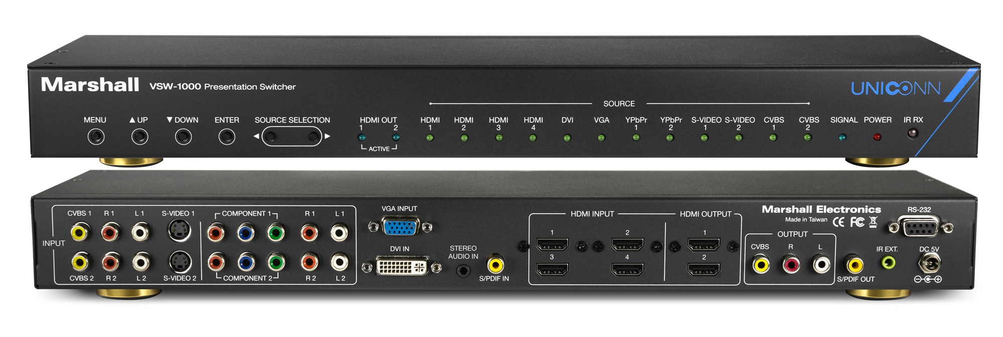 Marshall Vsw 1000 Multiformat Presentation Switcher Hdmi