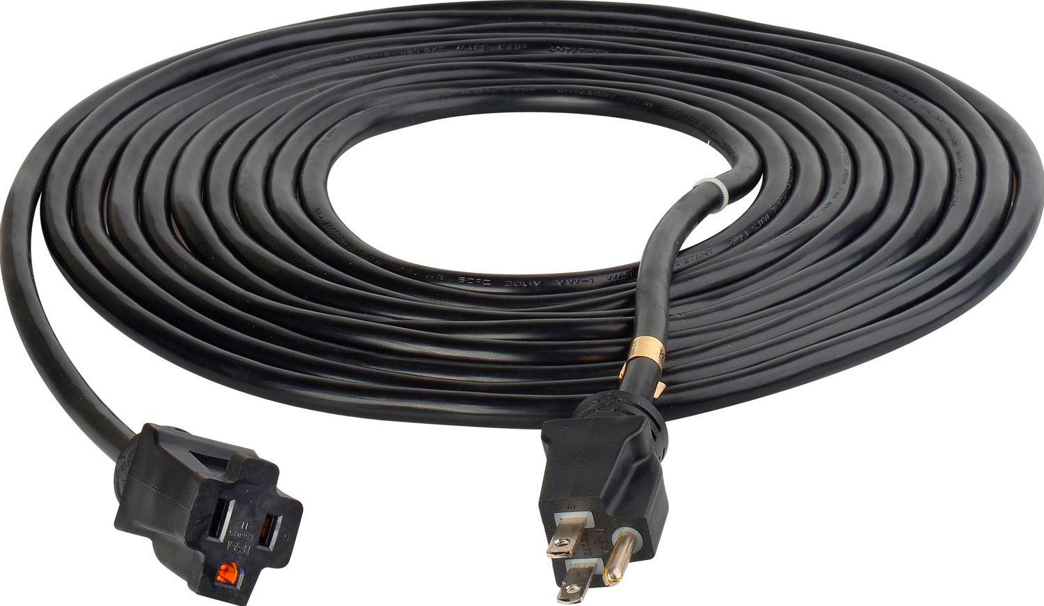 Black ProStar 12 Gauge SJTW 3 Conductor 100 Foot Extension Cord