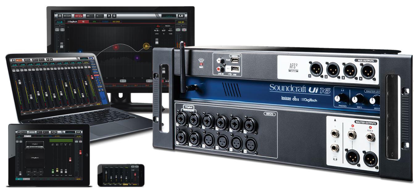 soundcraft ui16 16 input remote controlled digital mixer. Black Bedroom Furniture Sets. Home Design Ideas
