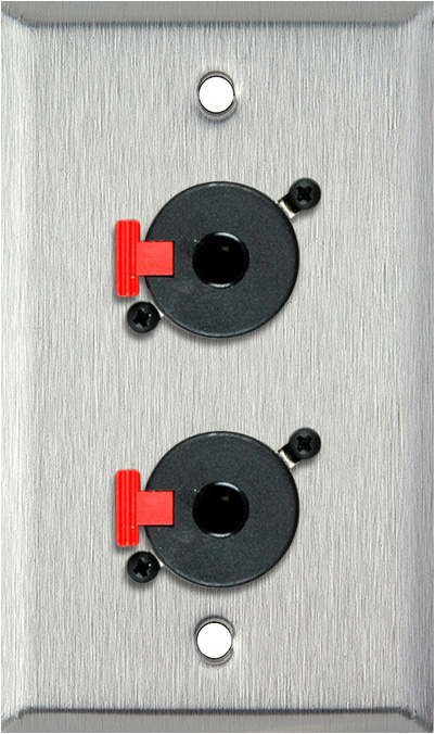 1g Stainless Steel Wall Plate With 2 1 4 Inch Trs Feed Thru
