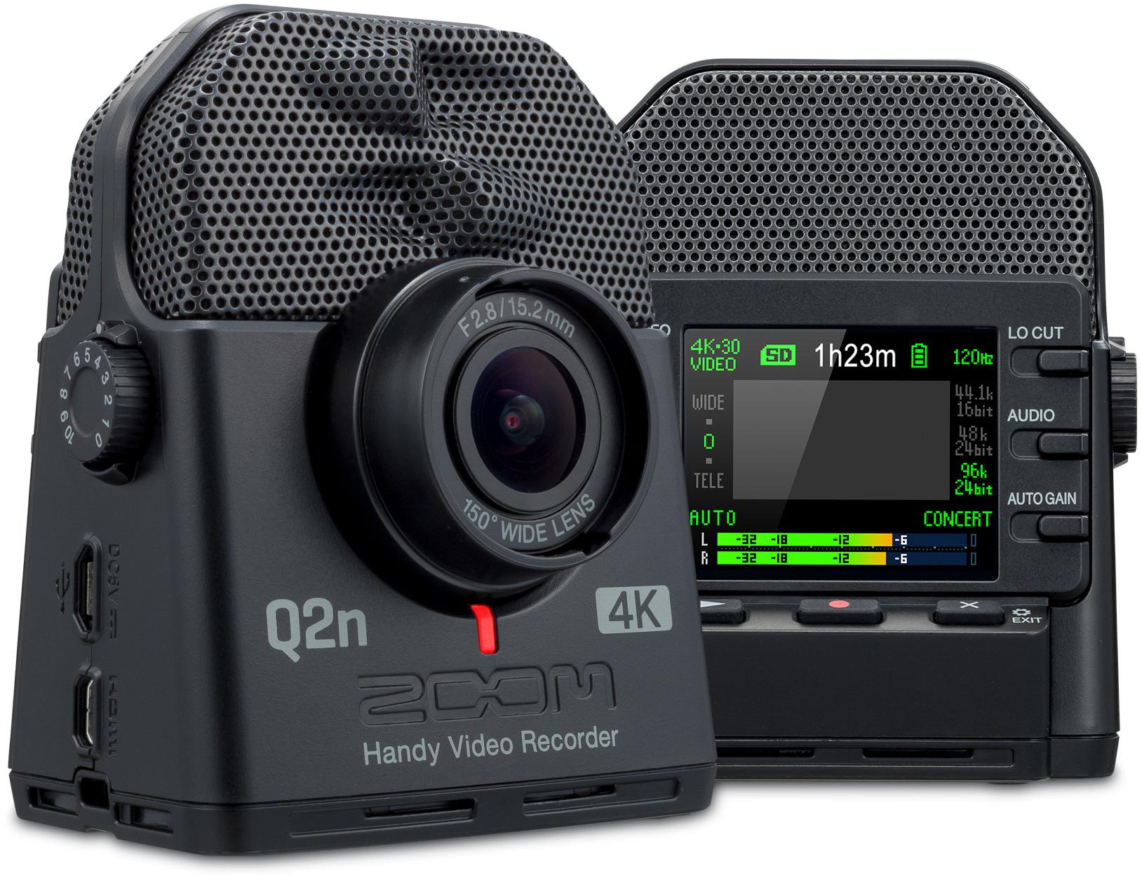 Zoom Q2n 4k Ultra High Definition Handy Video Recorder  U0026 Usb Streaming Webcam