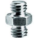 Manfrotto 125 Short Adapter Spigot 3/8 + 3/8 Inch