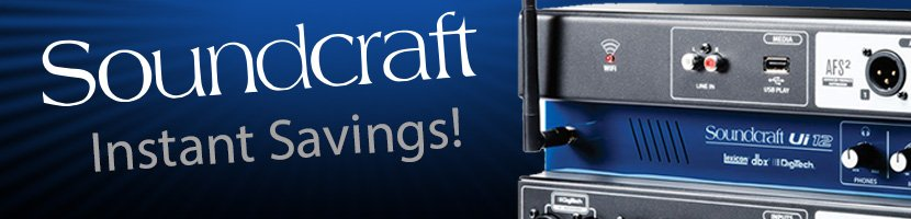 SOUNDCRAFT SAVINGS AT MARKERTEK!