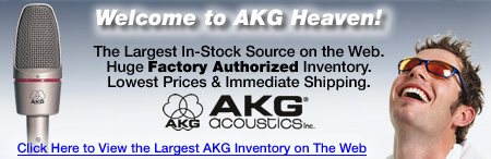 Markertek is AKG Acoustics Heaven