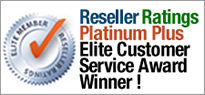 Platinum Plus Elite Customer Excellence Award from Reseller Ratings
