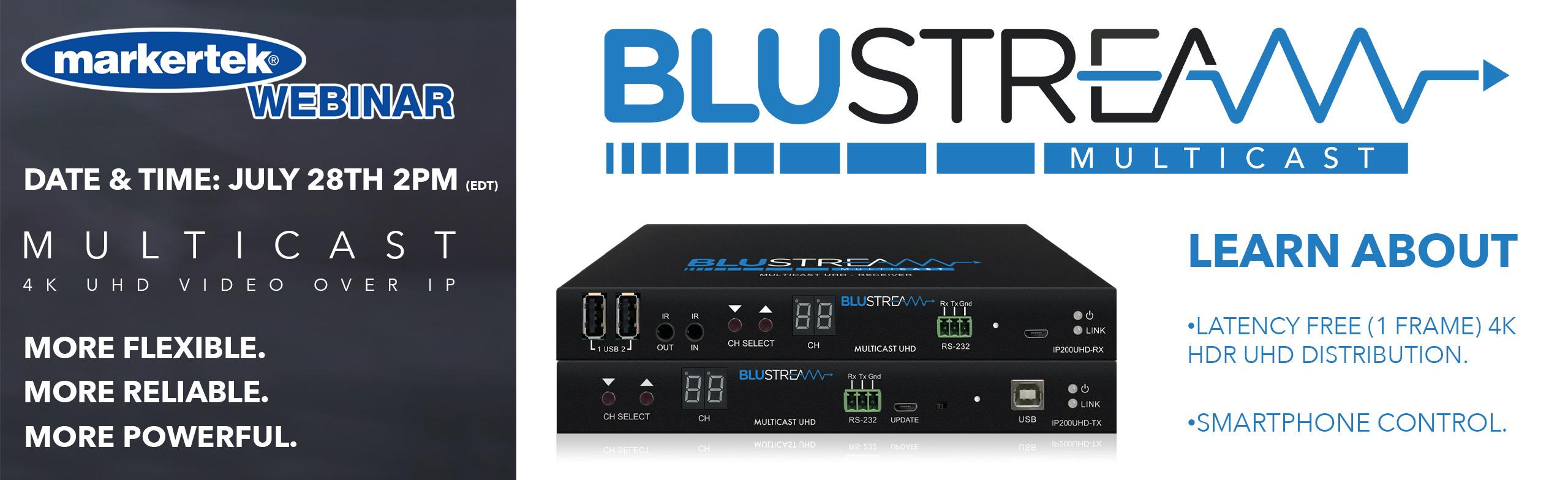 blustream video over ip webinar with markertek