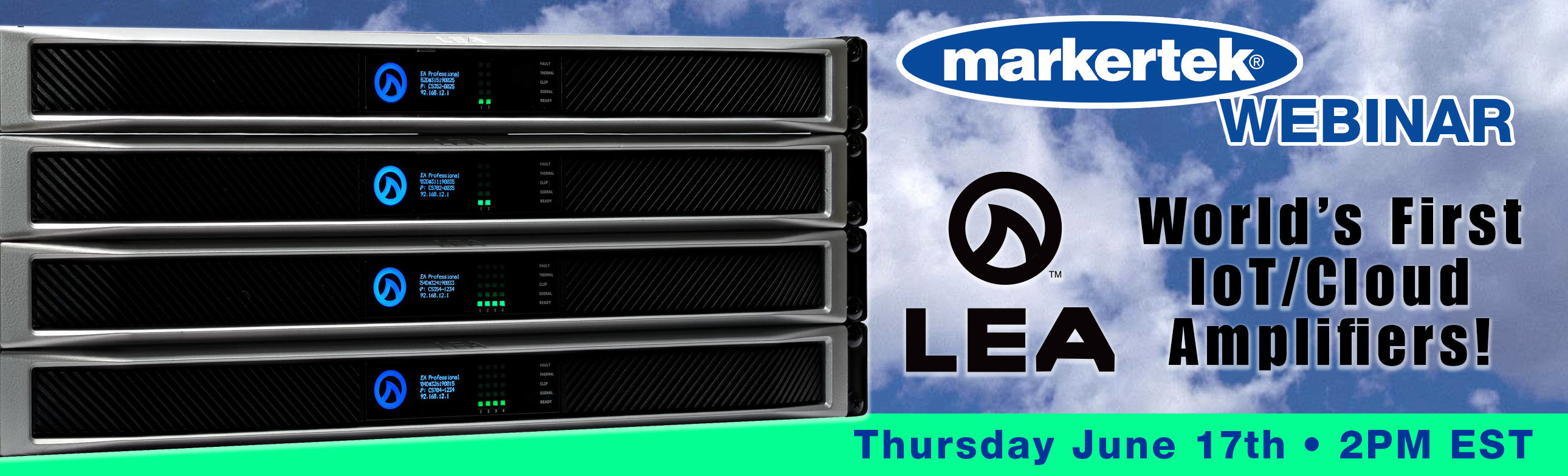 markertek hosts lea professional amplifiers webinar