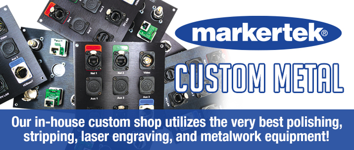 markertek custom wall plates and rack panels