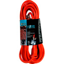 15 Foot 13A-125V-1625W 16/3 SJTW Outdoor Rated AC Extension Cord Orange
