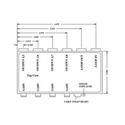 VAC 16-164-308 1x8 Bal. Mono Audio Distribution Amp w/Terminal Block