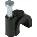 Black 6-7mm Nail-In Coaxial Cable Clips for RG6 Cable 100pk