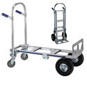 Wesco 220293 Cobra Junior Convertible Production Cart & Hand Truck (Pneumatic)