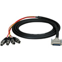 Sescom Built Gepco Digital 25P DSub Male to 4 XLR Female Audio Cable with 24 inch Fanouts- Yamaha -  5 Foot