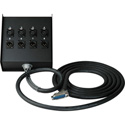 Sescom Built Mogami Digital 25Pin Dsub Male to Combo 4 XLR Female and 4 XLR Male Fan Box - 5 Foot