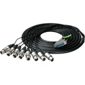 Sescom Built Gepco Digital 25Pin Dsub Male to 8 XLR Female Audio Cable with 18 i