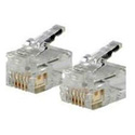 RJ12 6x6 Modular Plug for Flat Strand Cable 100pk
