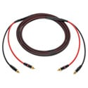 Audiophile Unbalanced Single Pair RCA Cables 10 Foot
