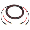 Audiophile Unbalanced Single Pair RCA Cables 3 Foot