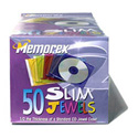 Memorex Color Slim CD Jewel Cases - 50 Pack
