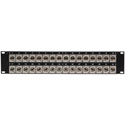 32 Point  Recessed BNC FeedThru 2RU Patch Panel