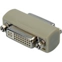 DVI 29-Pin Female to Female Chassis Mount Barrel Adapter for Standard DB-15 Cuto