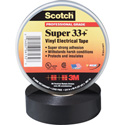 Scotch Super 33 Plus 7 Mil Pro Grade Electrical Tape 3/4 Inch x 52 Foot