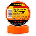 3M Scotch 35 Color Coding Electrical Tape 1/2 Inch x 20 Feet Orange