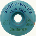 Lead-Free Solder-Wick Desoldering Braid - Size No.2 - 0.060In x 5 Feet