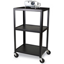 Bretford 24W x 18D x 42H AV Cart with 3 Shelves & E-Unit
