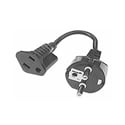 German AC Plug to USA AC Receptacle Foreign AC Converter