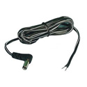 6ft DC Coaxial Plug Power Cord w/Right Angle 2.1mm x 5.5mm Plug to Stripped End