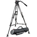 Manfrotto 526 Pro Fluid Video Head & 545B Pro Alu Video Tripod w/MBAG100PN