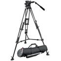 Manfrotto 526 Pro Fluid Video Head & 545B Pro Alu Video Tripod w/MBAG100PN