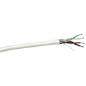 Gepco 6600HS Halar Plenum 22 AWG 2 Pair Stranded TC Audio/Control Cable White 10
