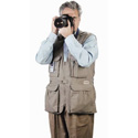 PhoTOGS Photography Vest: Large Khaki