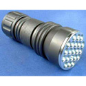 High Intensity 21 LED 3 AAA Machined Aluminum Flashlight - Black