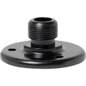 WindTech AD-12BE 5/8 Inch -27 Surface Microphone Mount Male Flange with Base Holes on 1-1/4 Inch Centers - Black